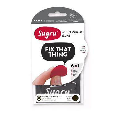 Sugru Black - 8 x 5g Mini Packs