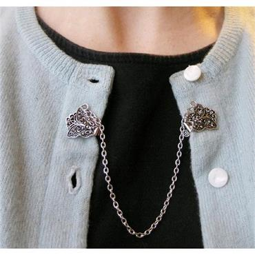 Vintage Style Butterfly Sweater Chain/Collar Clip