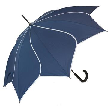Classic Navy Swirl Umbrella - Shipping To Ireland Only