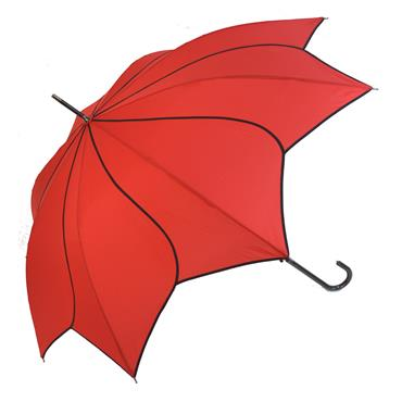 Classic Red Swirl Umbrella - Shipping to Ireland Only