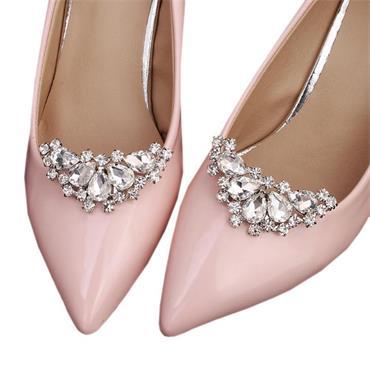 Tania Shoe Clips Crystal Rhinestone