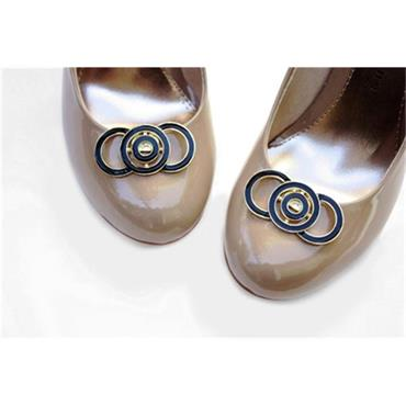 Twiggy Shoe Clips - Black by Absolutely Audrey