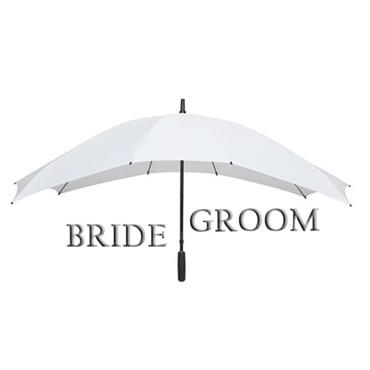 Duo Twin Umbrella - White - Shipping to Ireland Only