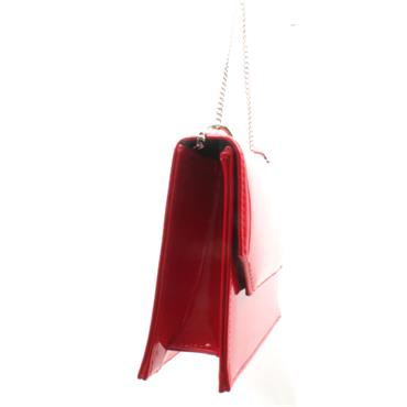 GLAMOUR CAMIE MATCH BAG - RED PATENT