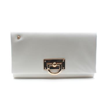 KATE APPLEBY BINGLEY CLUTCH BAG - WHITE