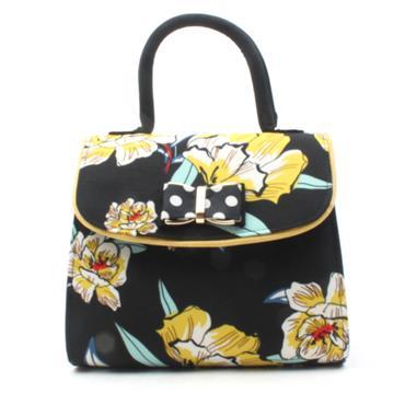 RUBY SHOO MUSCAT MATCH BAG - BLACK FLORAL