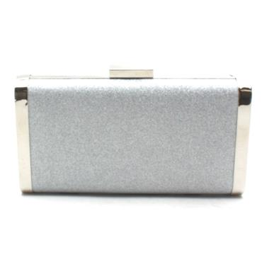 BARINO BG476 CLUTCH BAG - SILVER