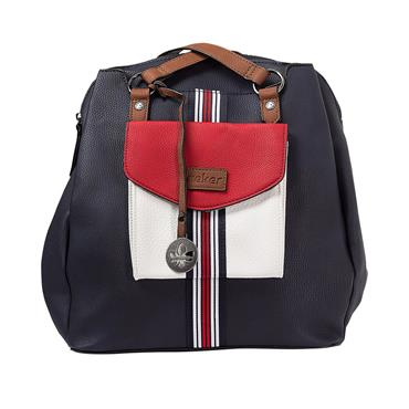 RIEKER H1026 HANDBAG - NAVY MULTI
