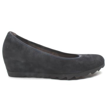 GABOR 05320 WEDGE SHOE - NAVY