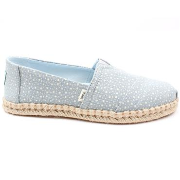 TOMS 10016261 CANVAS SHOE - BLUE
