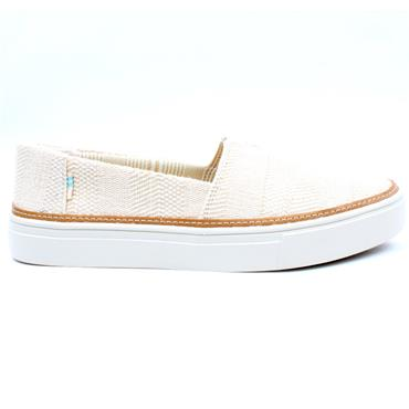 TOMS 10016296 CANVAS SHOE - BEIGE