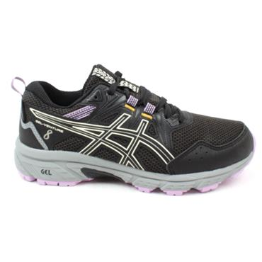 ASICS 1012A707-002 GEL VENTURE 8 RUNNER - BLACK/PURPLE