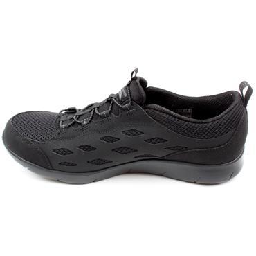 SKECHERS 104163 SLIP ON RUNNER - BLACK/BLACK