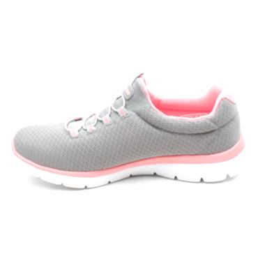 SKECHERS 12980 SUMMITS SHOE - GREY/PINK