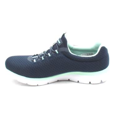SKECHERS 12980 SUMMITS SHOE - NAVY/TURQ