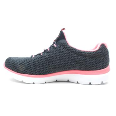 SKECHERS 12986 LACED RUNNER - NAVY PINK