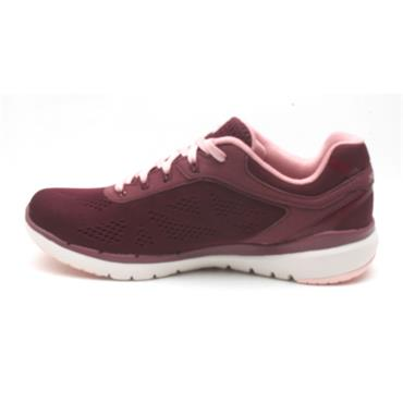 SKECHERS 13059 LACED RUNNER - BURGUNDY