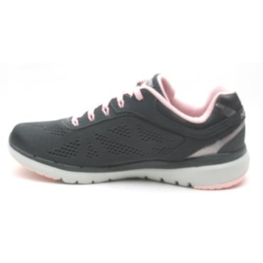 SKECHERS 13059 LACED RUNNER - GREY/PINK