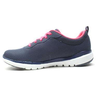 SKECHERS 13070 LACED SHOE - NAVY PINK