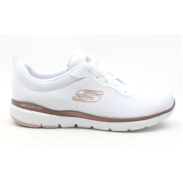 SKECHERS 13070 LACED SHOE - WHITE