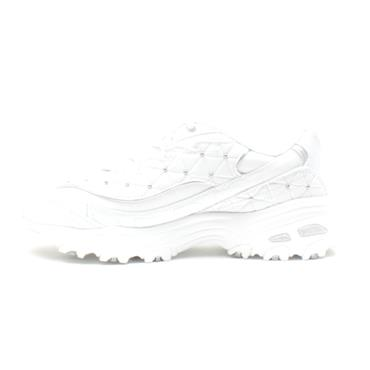 SKECHERS 13087 LACED CHUNKY RUNNER - WHITE SILVER