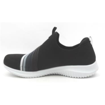 SKECHERS 13112 SLIP ON SHOE - BLACK/WHITE