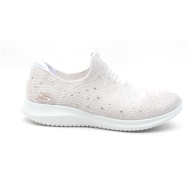 SKECHERS 13113 SLIP ON SHOE - WHITE MULTI
