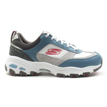 SKECHERS 13140 LACED RUNNER - GREY BLUE