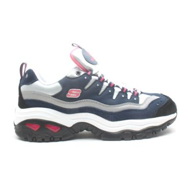 SKECHERS 13400 LACED RUNNER - NAVY PINK