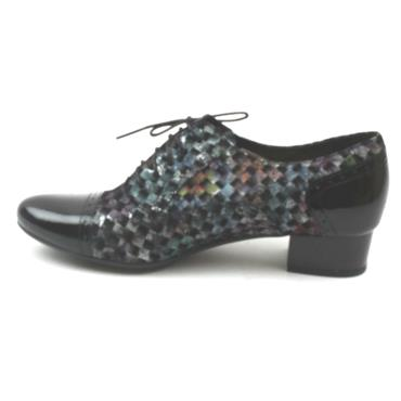 BIOECO 1370 HEELED SHOE - BLACK MULTI