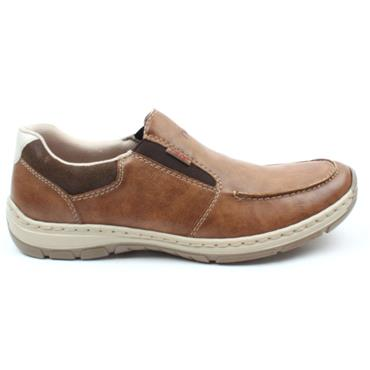 RIEKER 15260 SLIP ON SHOE - PEANUT