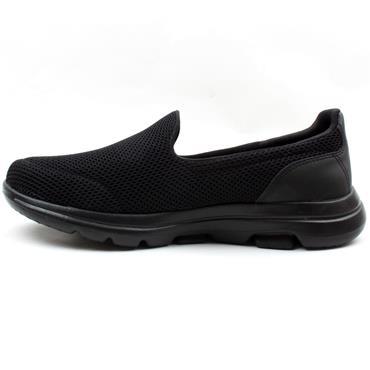SKECHERS 15901W WIDE FIT GO WALK 5 - BLACK/BLACK