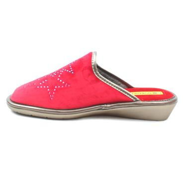 NORDIKA 1605 SLIPPER MULE - RED SUEDE