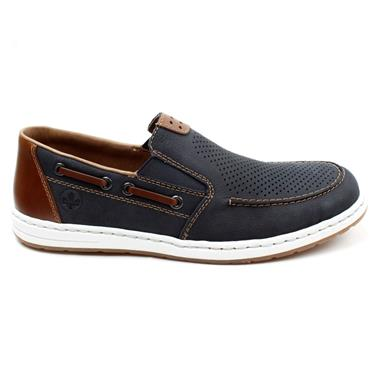 RIEKER 18266 SLIP ON SHOE - NAVY