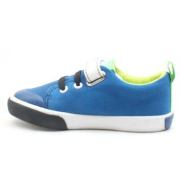 GARVALIN 202805 VELCRO SHOE - BLUE