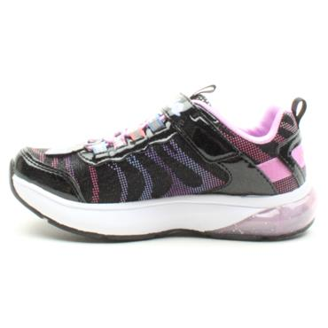 SKECHERS 20283L VELCRO RUNNER - BLACK MULTI