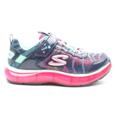 SKECHERS 20283L VELCRO RUNNER - NAVY MULTI