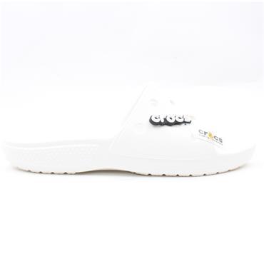 CROCS 206121 SLIDE SANDAL - WHITE