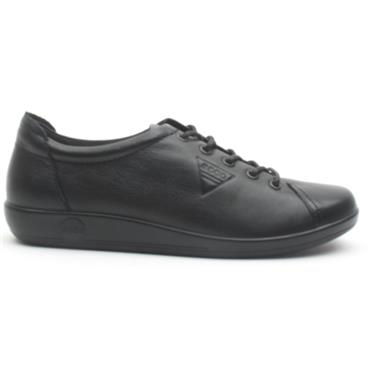 ECCO SOFT 2.0 SHOE 206503 - BLACK/BLACK