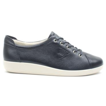 ECCO SOFT 2.0 SHOE 206503 - NAVY/WHITE