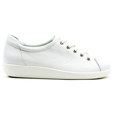 ECCO SOFT 2.0 SHOE 206503 - WHITE
