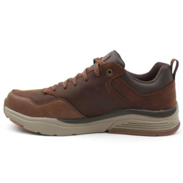 SKECHERS 210021 LACED SHOE - BROWN