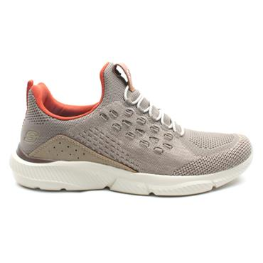 SKECHERS 210028 LACED RUNNER - TAUPE