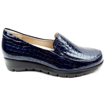 PITILLOS 2200 WEDGE SHOE - NAVY