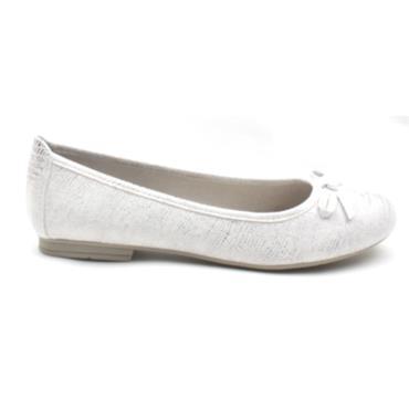 JANA 22162 BOW POMP - WHITE