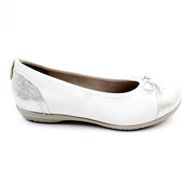 JANA 22168 BOW FLAT POMP - WHITE
