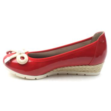 MARCO TOZZI 22303 BOW POMP - RED PATENT