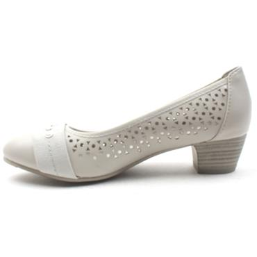 JANA 22362 LOW HEEL SHOE - LIGHT GREY