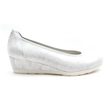JANA 22363 WEDGE SHOE - WHITE MULTI