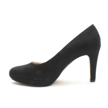 SOLIVER 22400 COURT SHOE - BLACK SUEDE